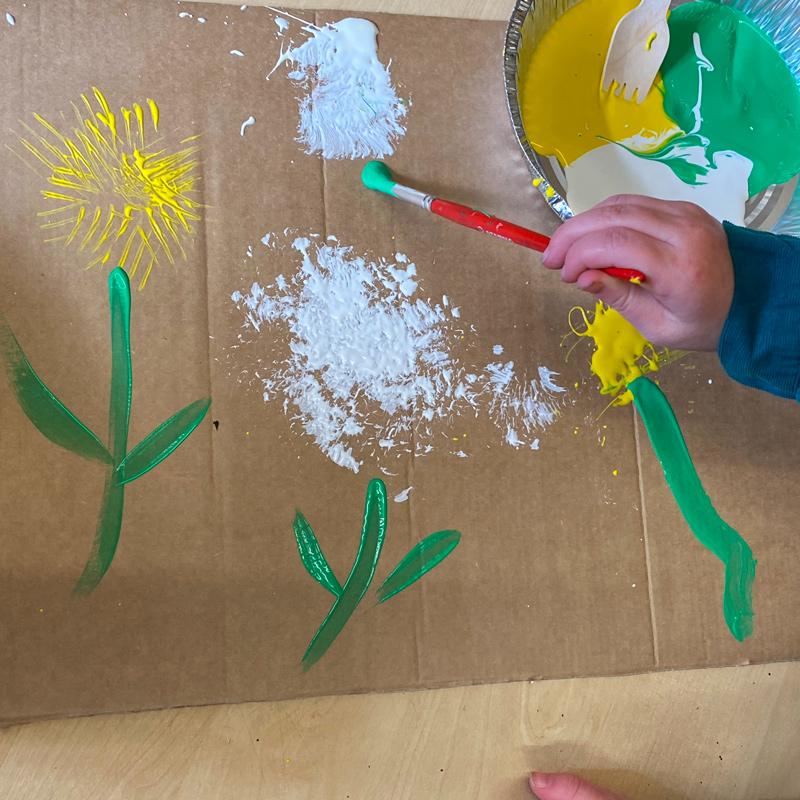 abstract dandelion art
