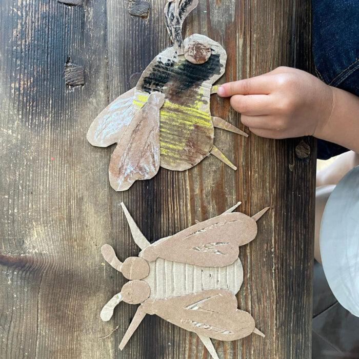 cardboard bees